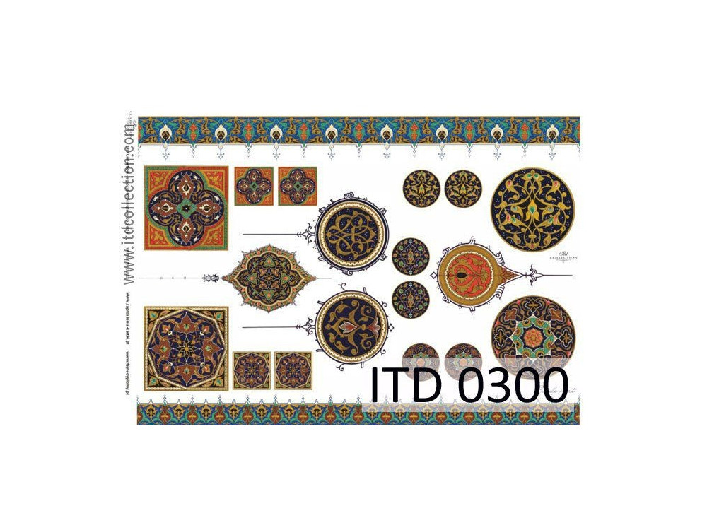 Papier do decoupage A4 - ITD Collection - klasyczny, 0300