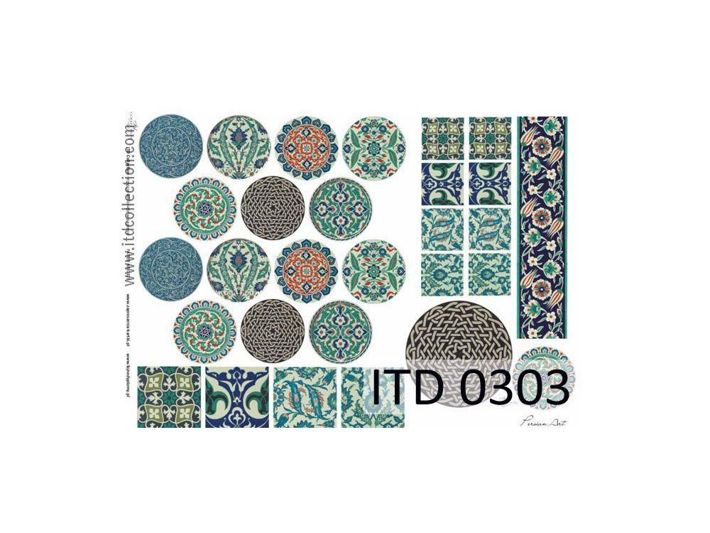 Papier do decoupage A4 - ITD Collection - klasyczny, 0303