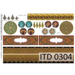 Papier do decoupage A4 - ITD Collection - klasyczny, 0304