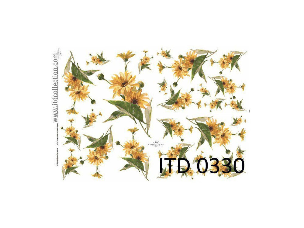 Decoupage paper A4 - ITD Collection - classic, 0330