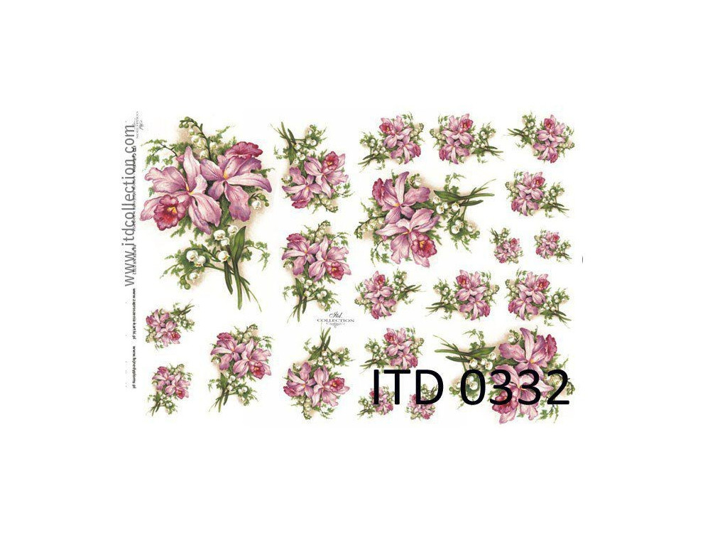 Decoupage paper A4 - ITD Collection - classic, 0332