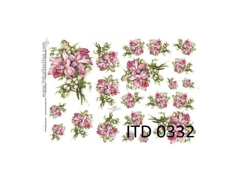 Papier do decoupage A4 - ITD Collection - klasyczny, 0332