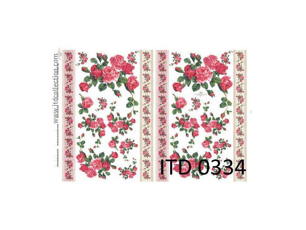 Papier do decoupage A4 - ITD Collection - klasyczny, 0334
