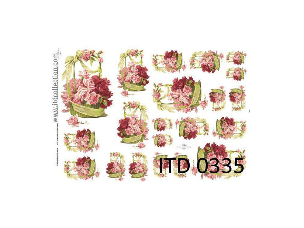 Papier do decoupage A4 - ITD Collection - klasyczny, 0335