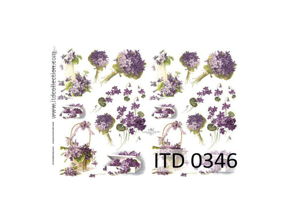 Papier do decoupage A4 - ITD Collection - klasyczny, 0346