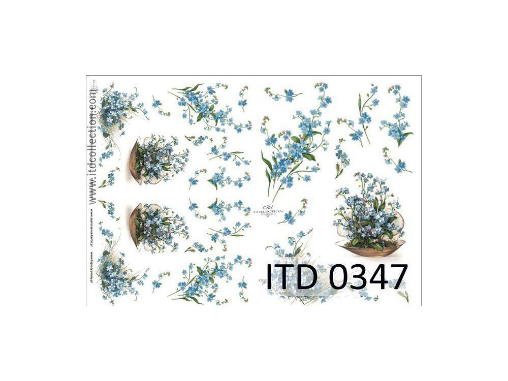 Decoupage paper A4 - ITD Collection - classic, 0347