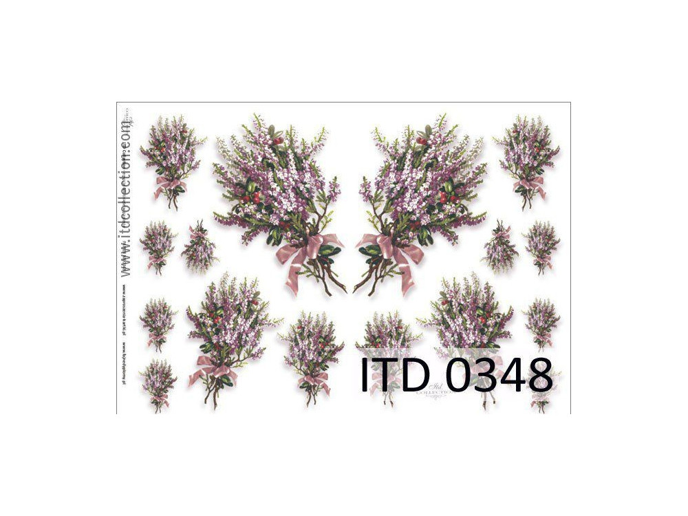 Papier do decoupage A4 - ITD Collection - klasyczny, 0348