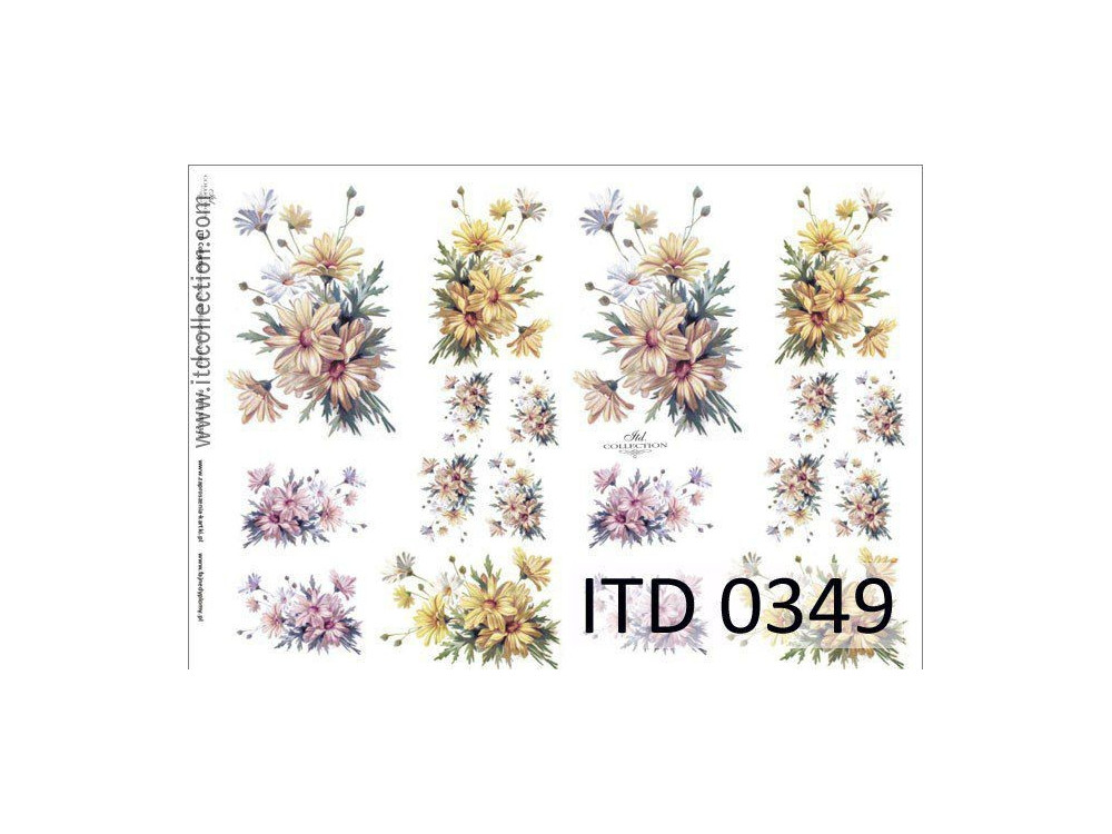 Papier do decoupage A4 - ITD Collection - klasyczny, 0349