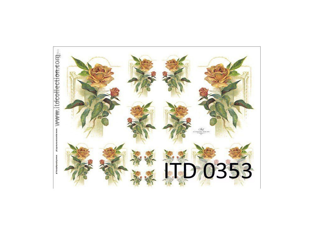 Papier do decoupage A4 - ITD Collection - klasyczny, 0353