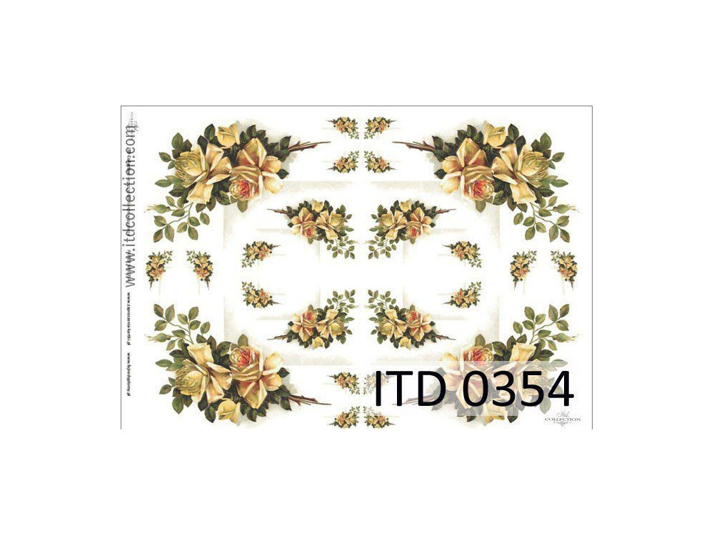 Decoupage paper A4 - ITD Collection - classic, 0354