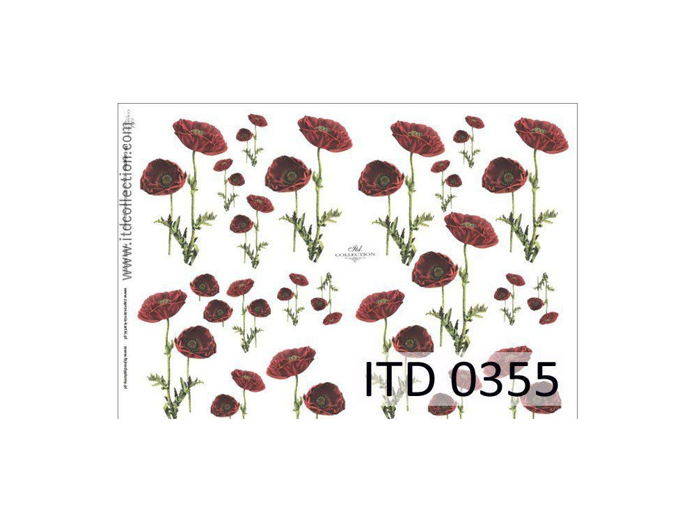 Papier do decoupage A4 - ITD Collection - klasyczny, 0355