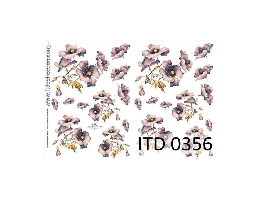 Decoupage paper A4 - ITD Collection - classic, 0356