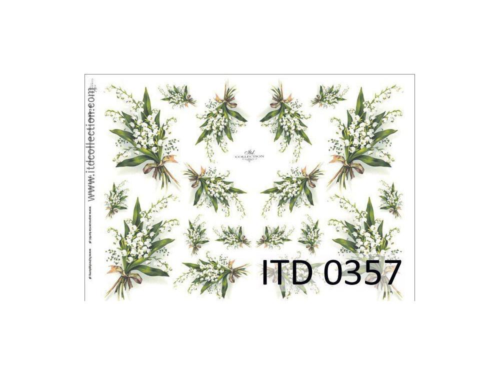 Papier do decoupage A4 - ITD Collection - klasyczny, 0357