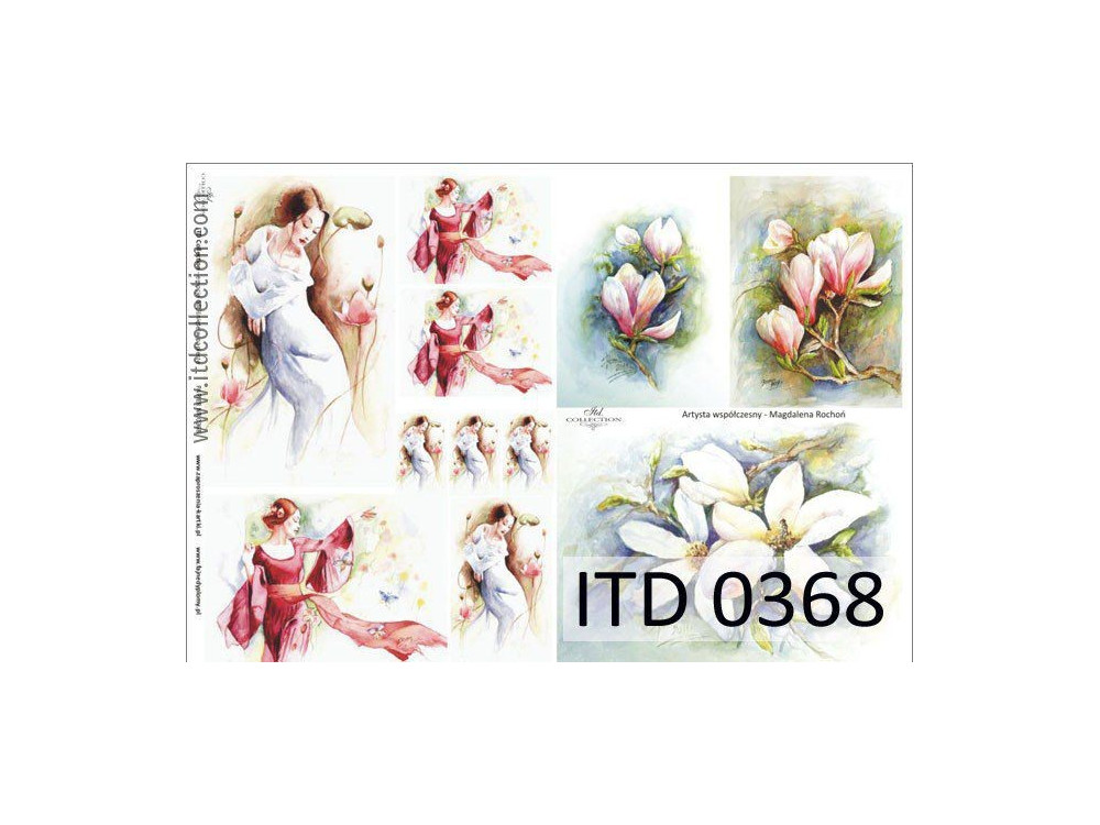 Decoupage paper A4 - ITD Collection - classic, 0368