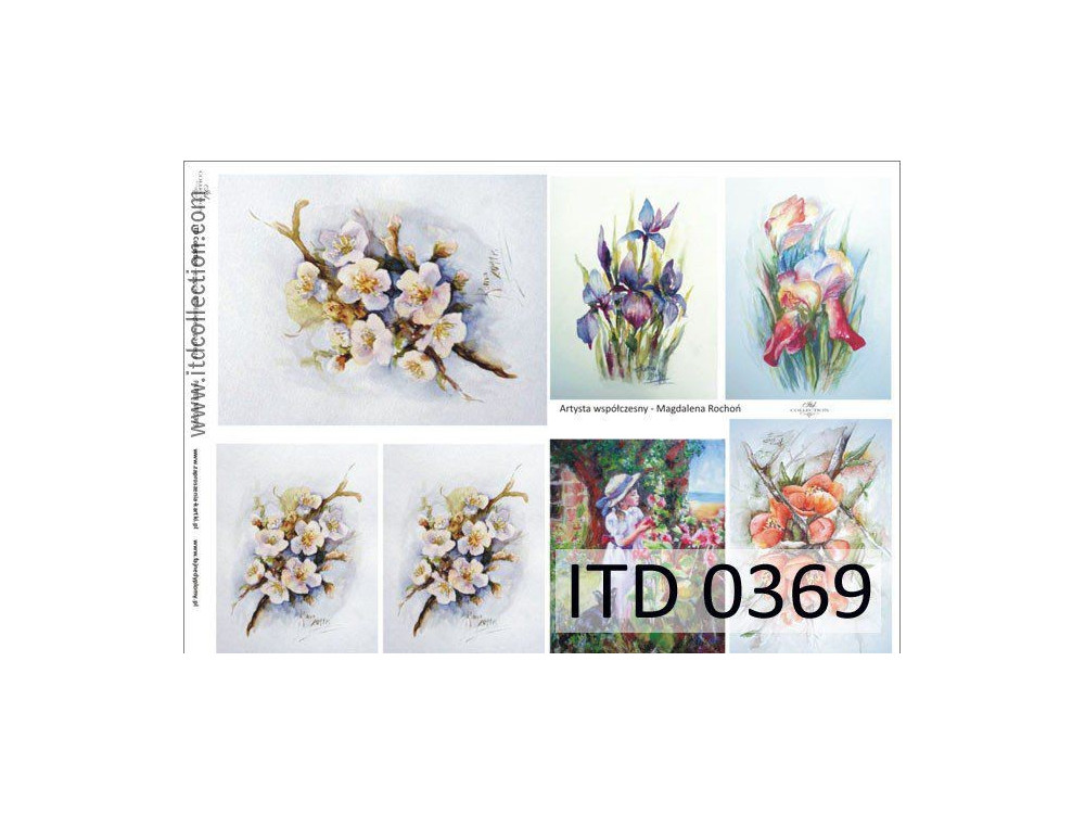 Papier do decoupage A4 - ITD Collection - klasyczny, 0369
