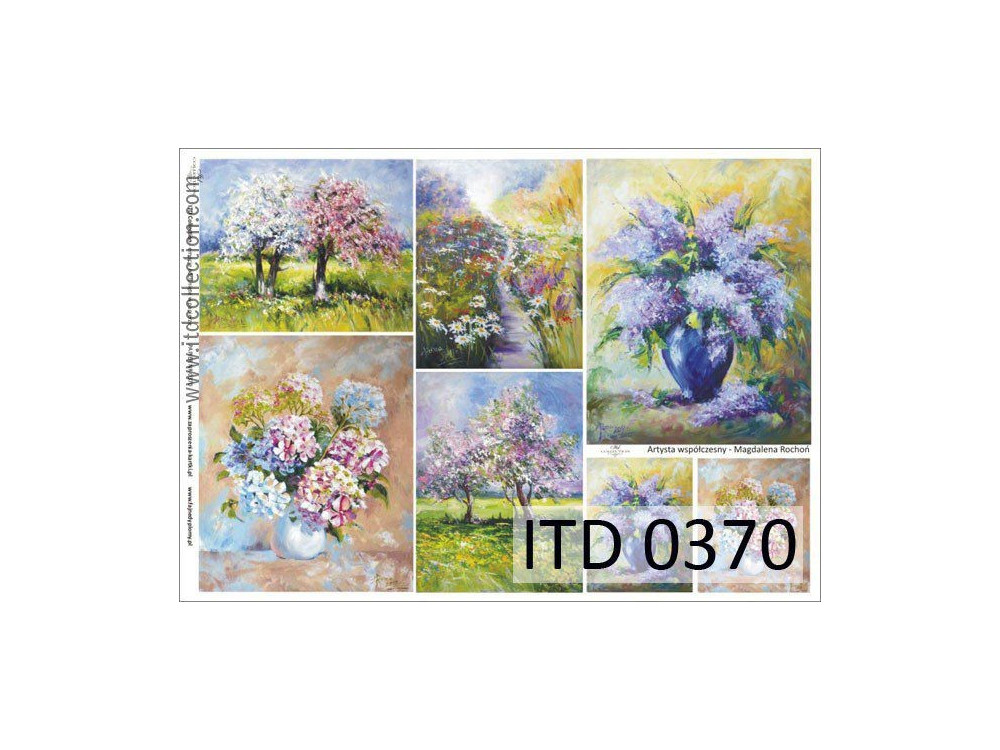 Papier do decoupage A4 - ITD Collection - klasyczny, 0370