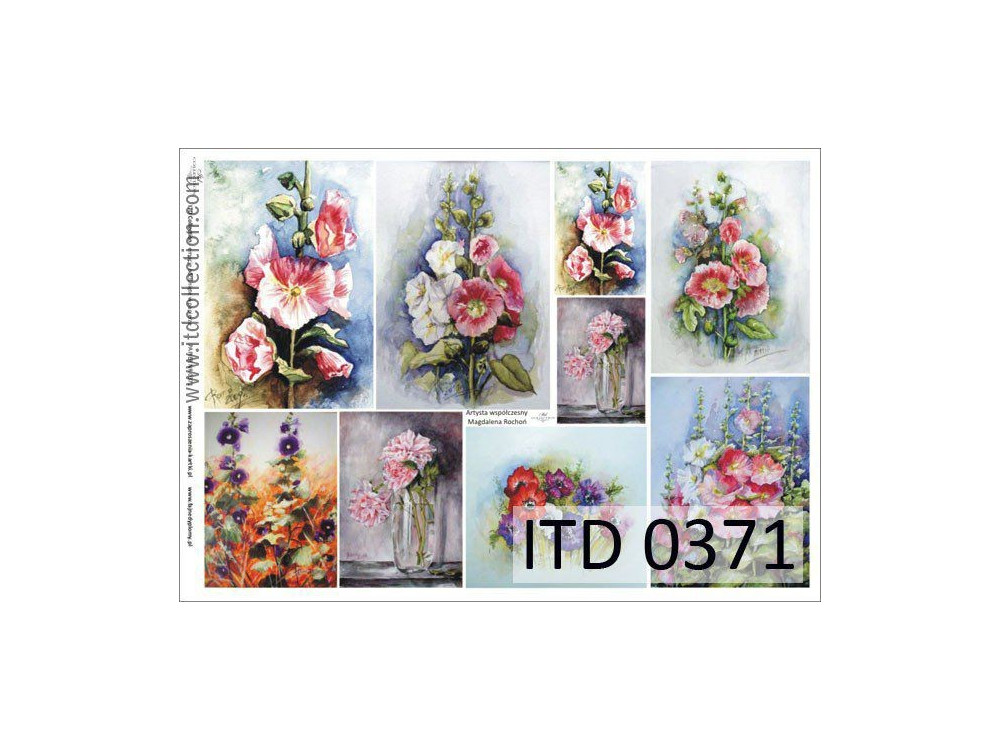 Papier do decoupage A4 - ITD Collection - klasyczny, 0371