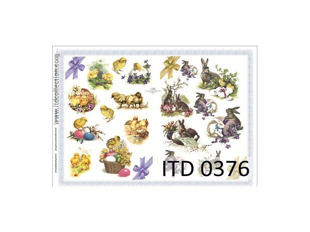 Papier decoupage ITD 0376