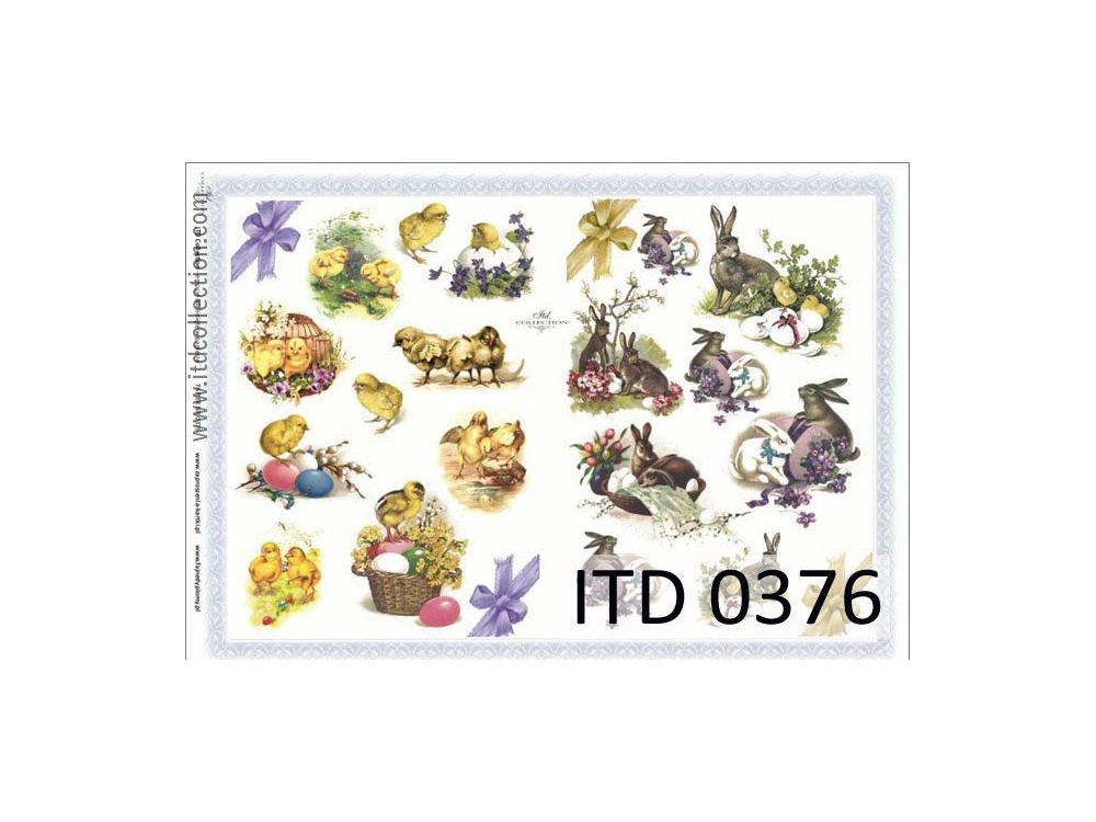Papier do decoupage A4 - ITD Collection - klasyczny, 0376