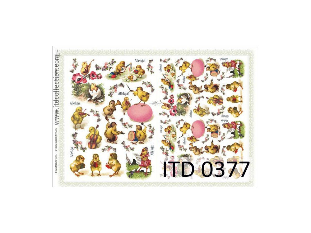 Papier do decoupage A4 - ITD Collection - klasyczny, 0377