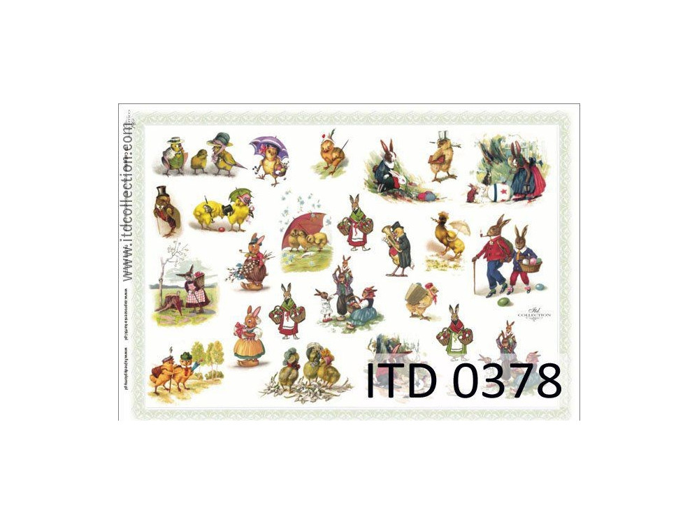 Papier do decoupage A4 - ITD Collection - klasyczny, 0378