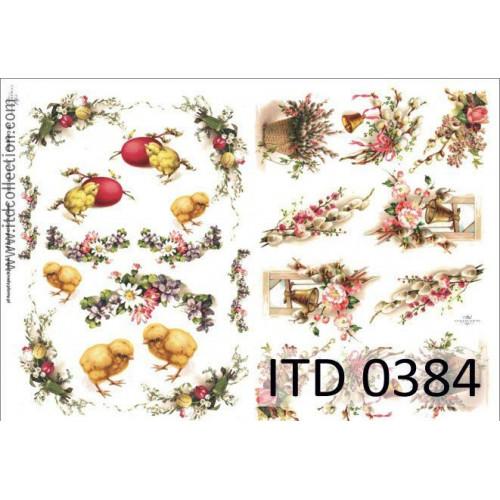Papier decoupage ITD 0384
