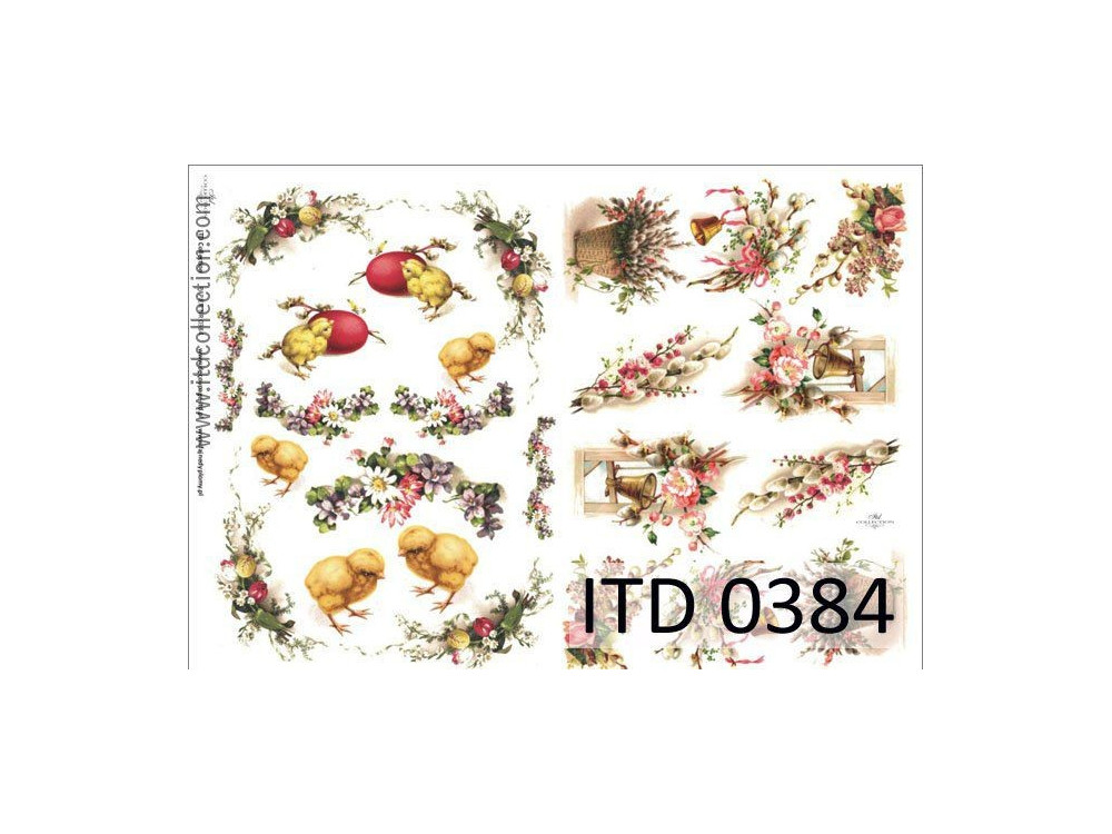 Papier do decoupage A4 - ITD Collection - klasyczny, 0384