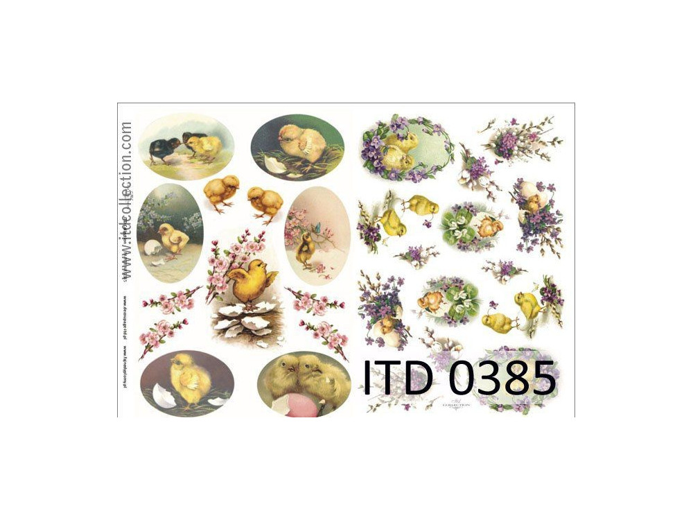 Papier do decoupage A4 - ITD Collection - klasyczny, 0385