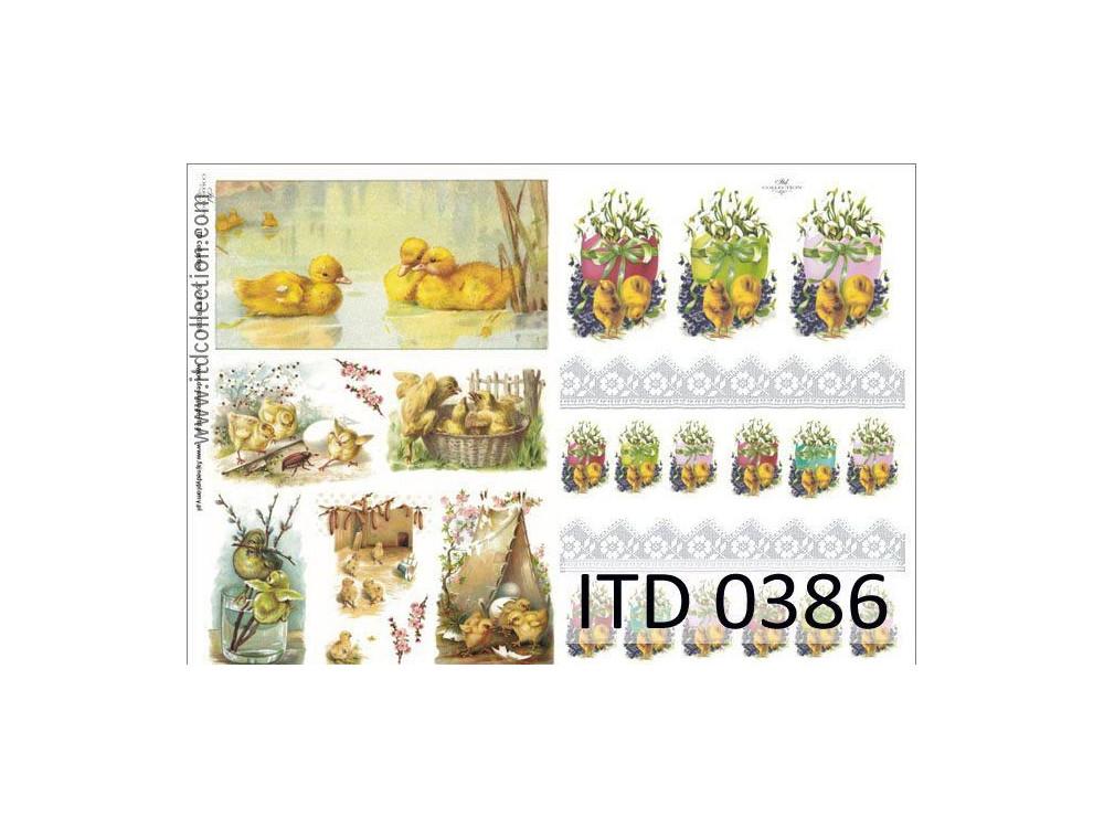 Papier decoupage ITD 0386