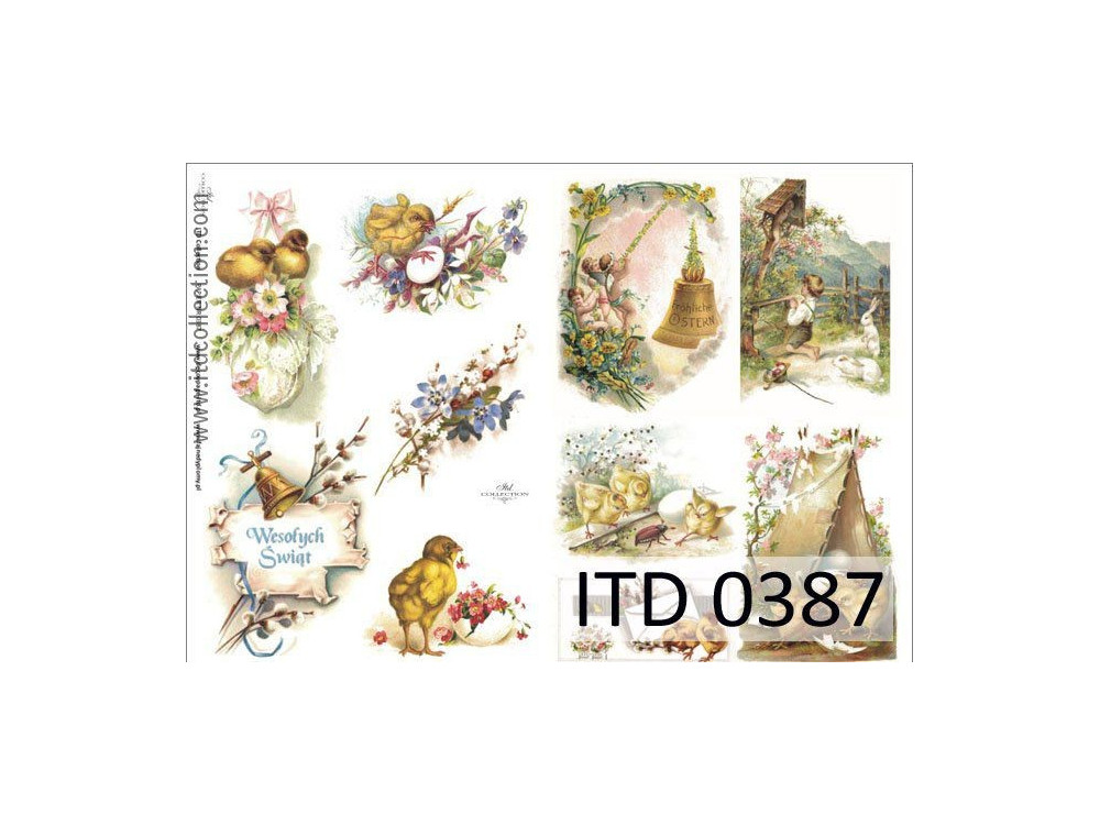 Decoupage paper A4 - ITD Collection - classic, 0387