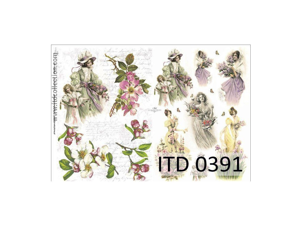 Papier decoupage ITD 0391