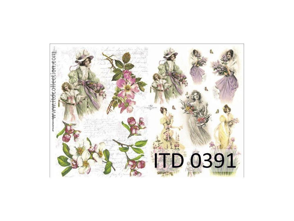 Papier do decoupage A4 - ITD Collection - klasyczny, 0391