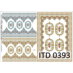 Decoupage paper A4 - ITD Collection - classic, 0393