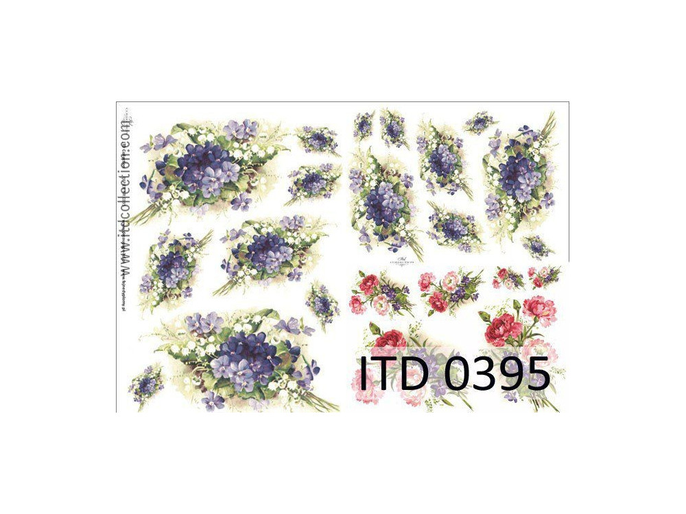 Papier do decoupage A4 - ITD Collection - klasyczny, 0395
