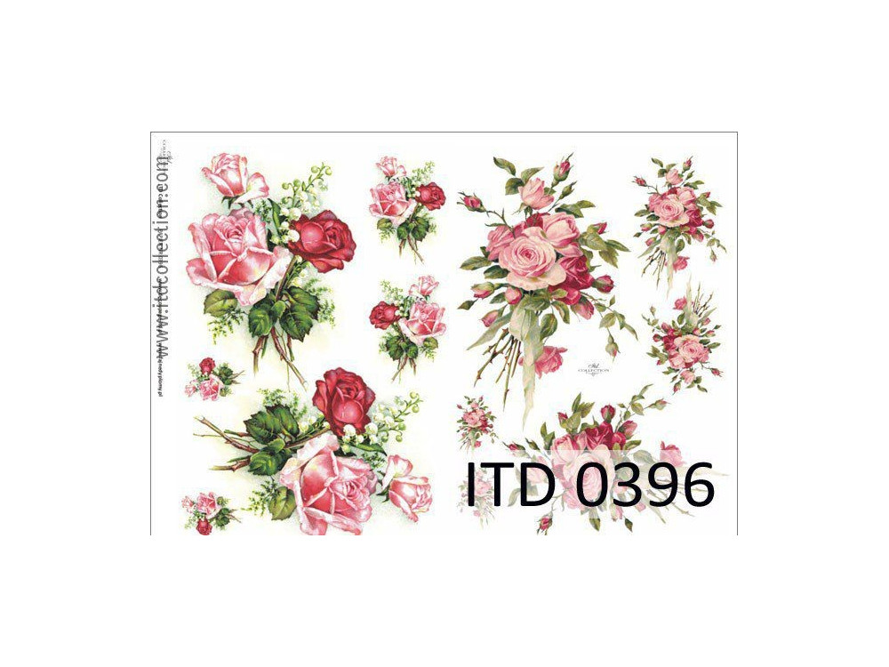 Decoupage paper A4 - ITD Collection - classic, 0396