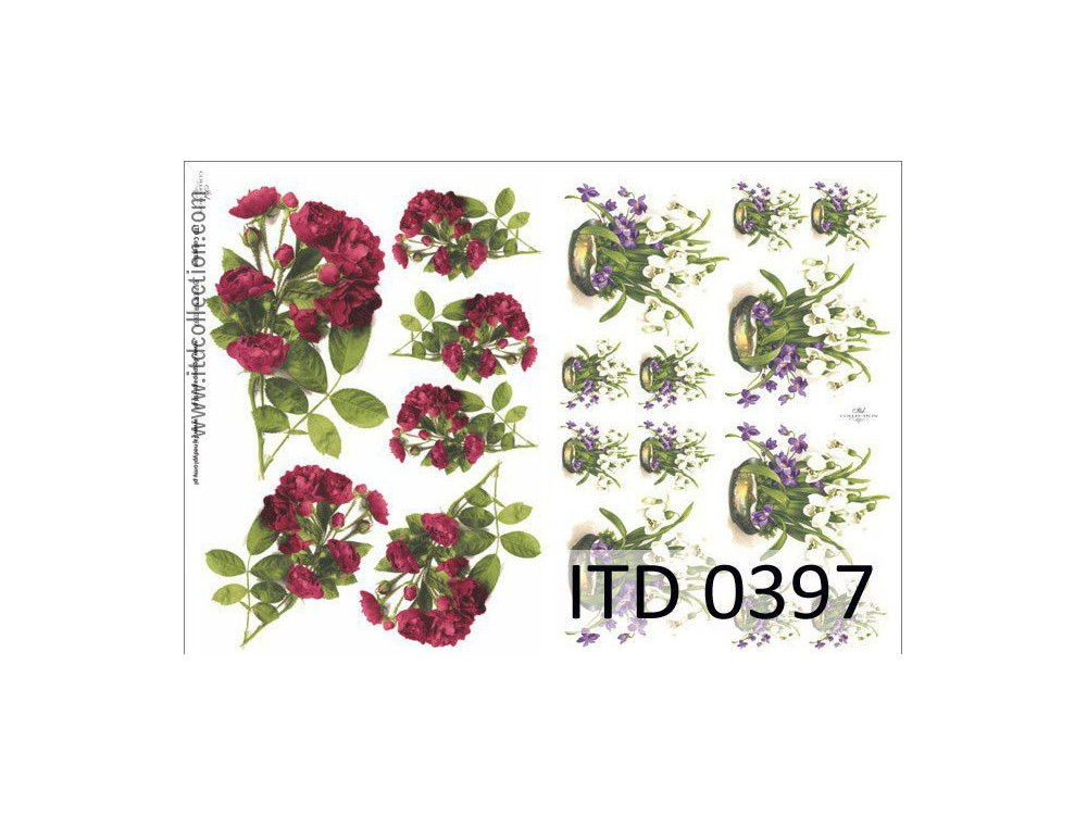 Papier do decoupage A4 - ITD Collection - klasyczny, 0397