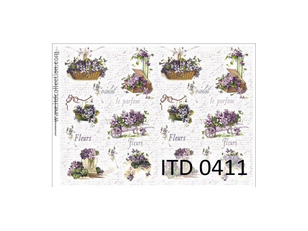 Papier do decoupage A4 - ITD Collection - klasyczny, 0411
