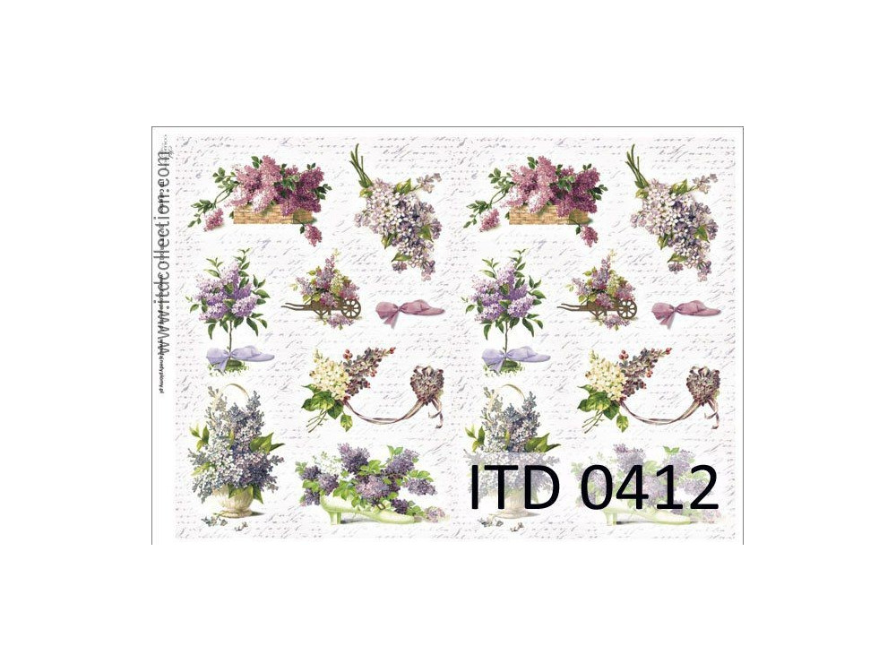 Papier do decoupage A4 - ITD Collection - klasyczny, 0412