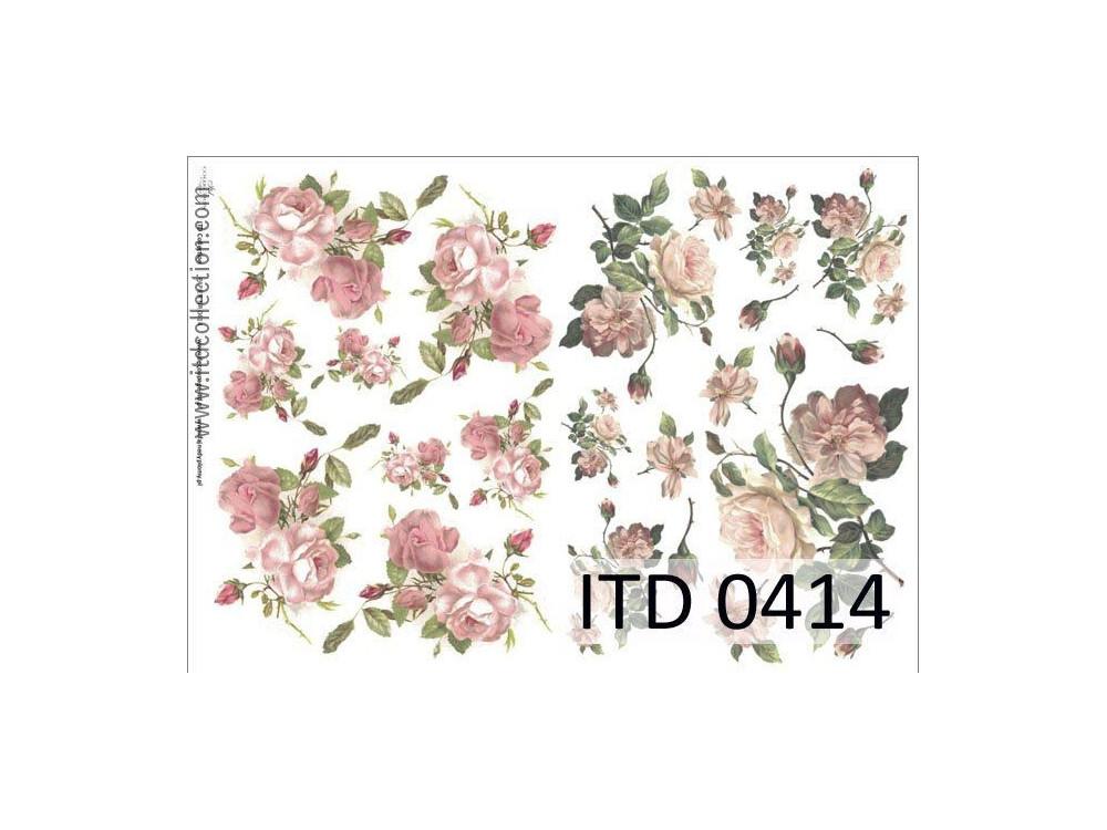 Papier do decoupage A4 - ITD Collection - klasyczny, 0414