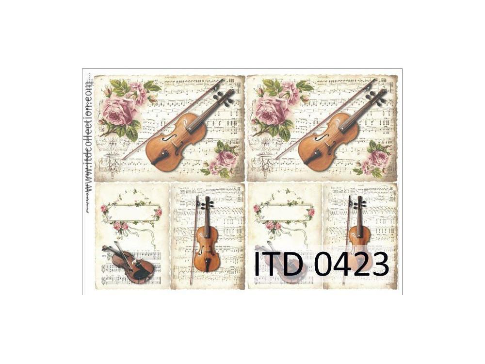 Papier do decoupage A4 - ITD Collection - klasyczny,  0423