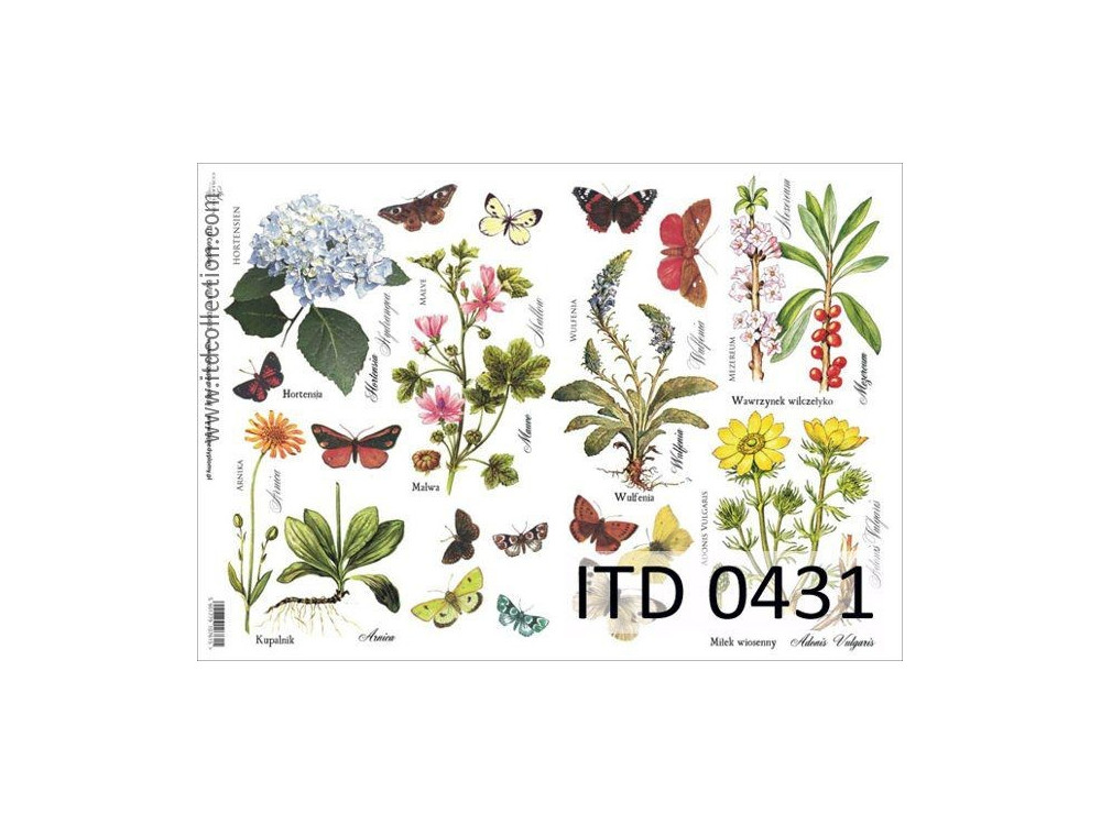 Papier do decoupage A4 - ITD Collection - klasyczny, 0431