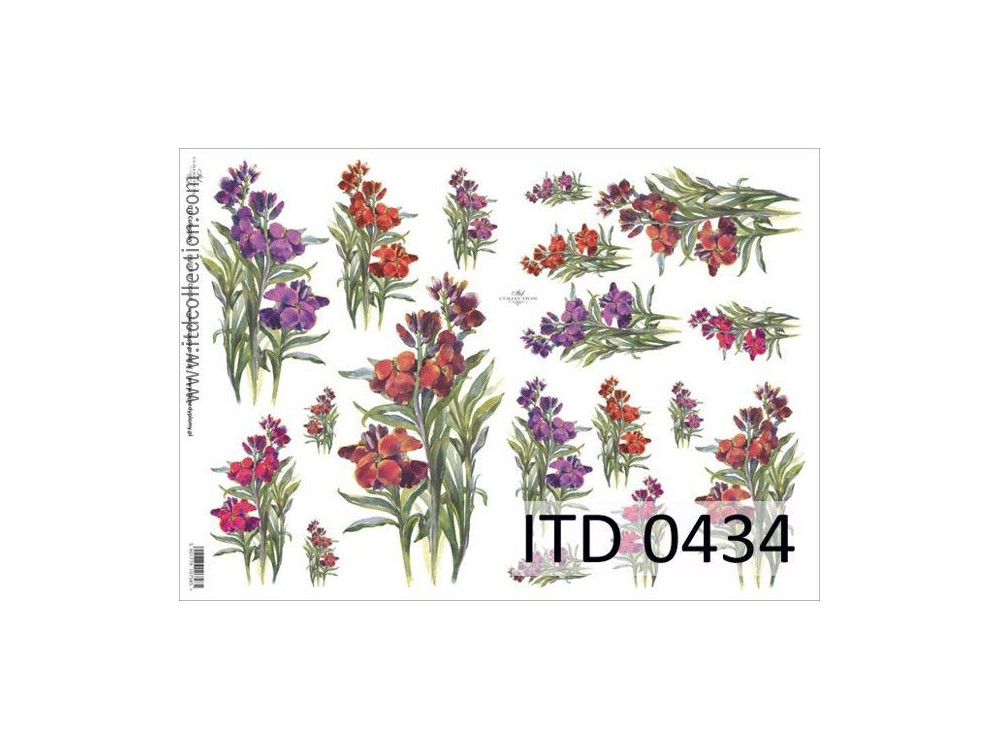 Papier do decoupage A4 - ITD Collection - klasyczny, 0434