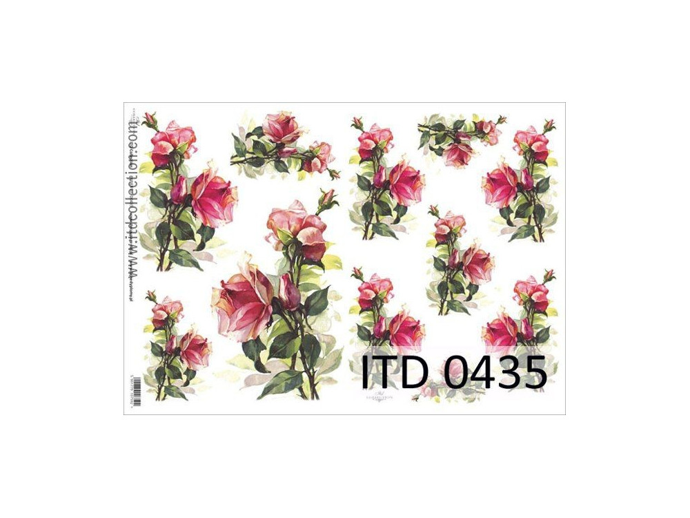 Decoupage paper A4 - ITD Collection - classic, 0435
