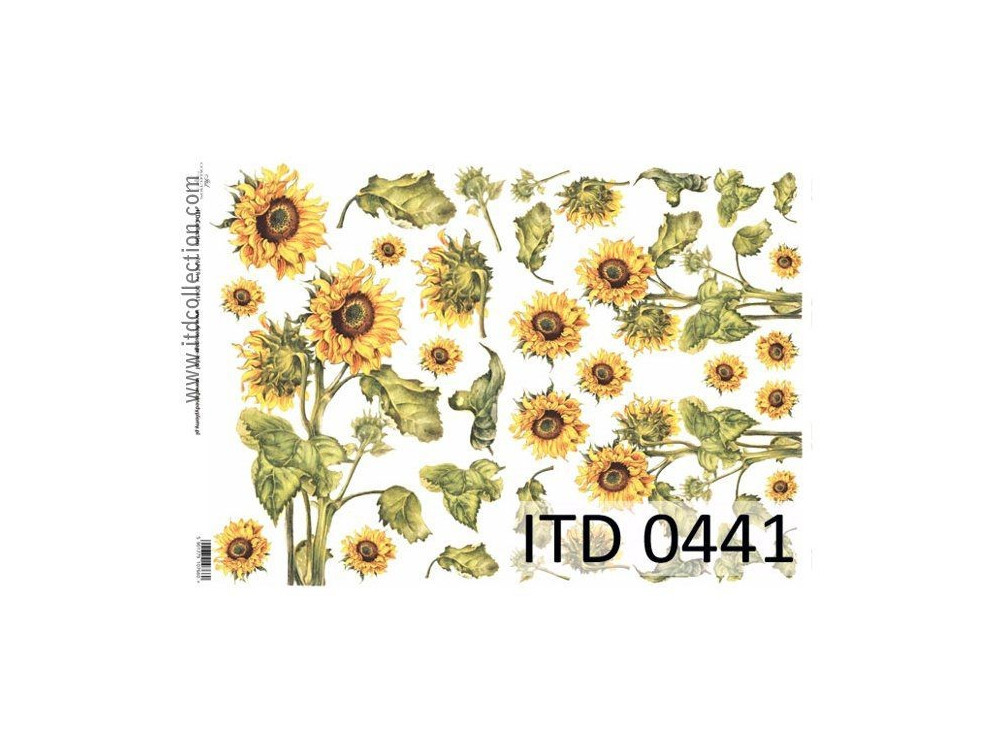 Decoupage paper A4 - ITD Collection - classic, 0441