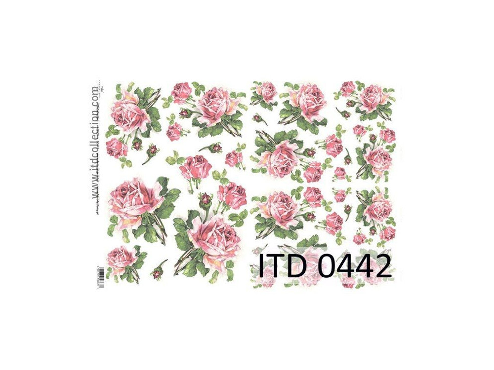 Papier do decoupage A4 - ITD Collection - klasyczny, 0442