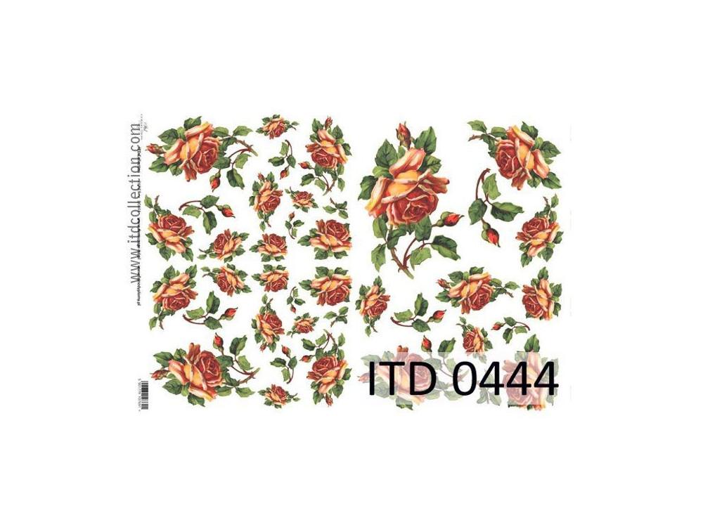 Papier do decoupage A4 - ITD Collection - klasyczny, 0444