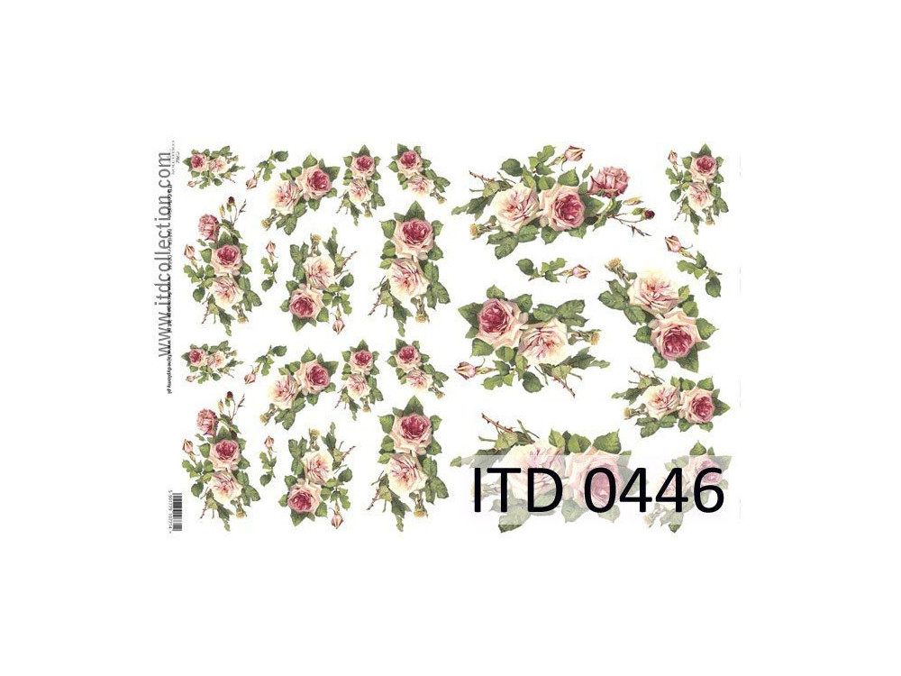 Decoupage paper A4 - ITD Collection - classic, 0446