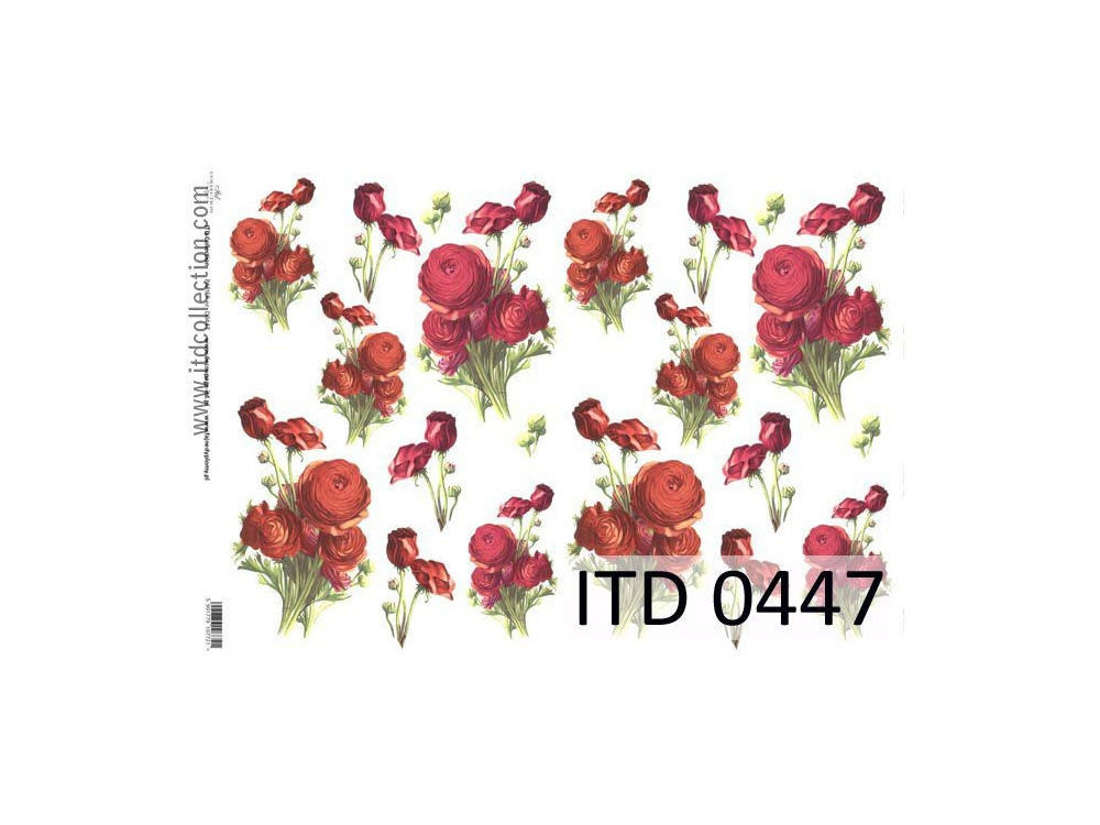 Papier do decoupage A4 - ITD Collection - klasyczny, 0447