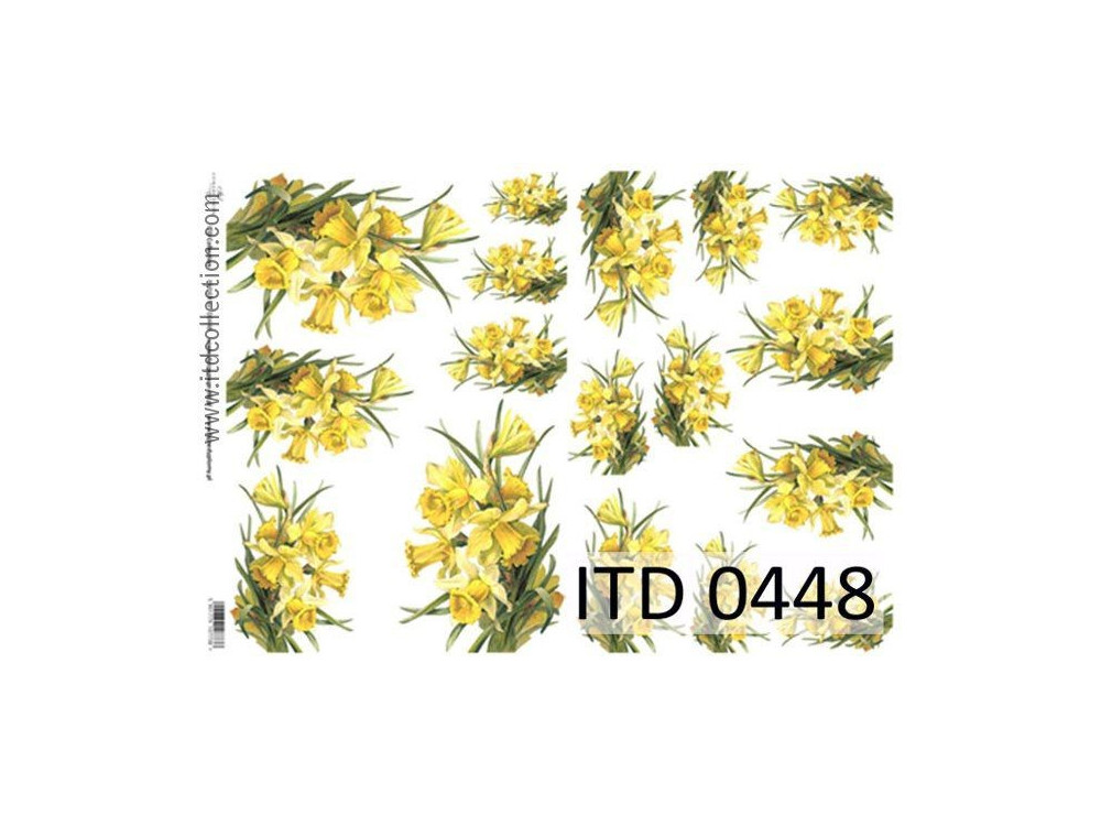 Papier do decoupage A4 - ITD Collection - klasyczny, 0448