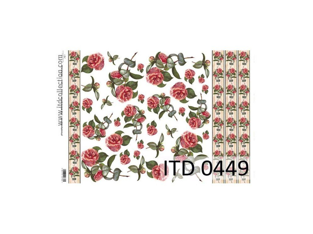 Papier do decoupage A4 - ITD Collection - klasyczny, 0449